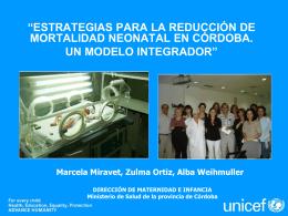 Estrategias para la reducción de mortalidad neonatal en Córdoba