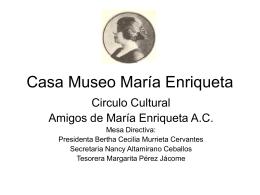 Propuesta tercer milenio - Casa Museo María Enriqueta