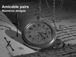Amicable Pairs