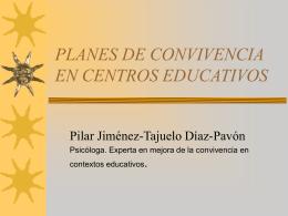 planes de convivencia en centros educativos