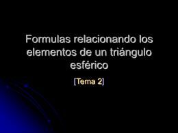Fórmulas para un triángulo esférico