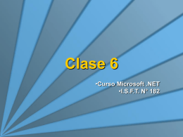 Clase 6 - ASP.NET Parte 2