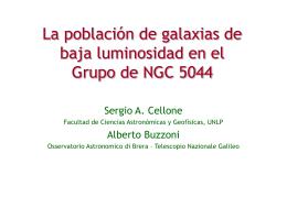 La población de galaxias de baja luminosidad en el Grupo de NGC