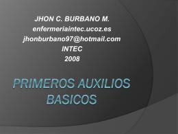 PRIMEROS AUXILIOS BASICOS - Página de inicio
