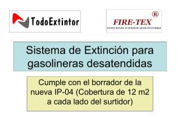 presentacion firetex-es - Sistemas de Seguridad y Extintores