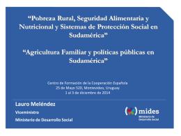 Agricultura Familiar y políticas públicas en Sudamérica