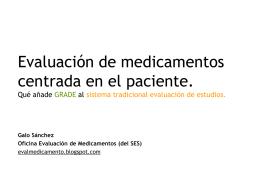 Evaluación de medicamentos centrada en el