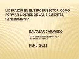 Baltazar Caravedo - Filantropía Transformadora