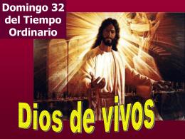 """Domingo 32 del Tiempo Ordinario """"Vale la pena morir a manos de"""