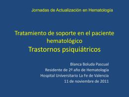 Tratamiento de soporte en el paciente hematológico