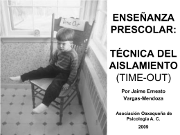 técnica del aislamiento (time-out)