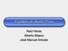 El patrón de diseño Proxy