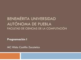 Introduccion ( MUM) - Facultad de Ciencias de la Computación