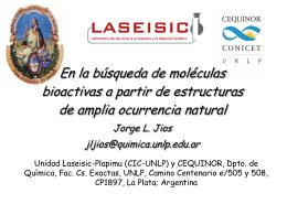 Síntesis y estudio de compuestos con bioactividad modificada