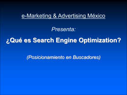 Search Engine Optimization - Posicionamiento en Buscadores