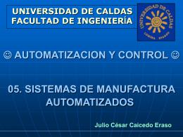 5.Sistemas de manufactura automatizados