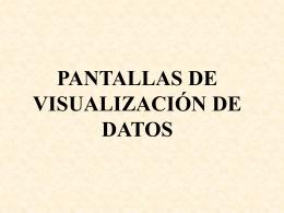 ANEXO DEL RD 488/1997 1. EQUIPO. b. Pantalla.