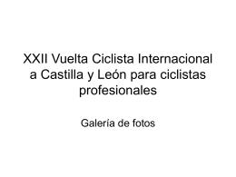 XXII Vuelta Ciclista Internacional a Castilla y León para ciclistas