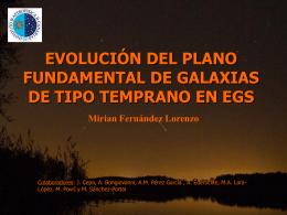 Evolución del Plano Fundamental de galaxias de tipo temprano en