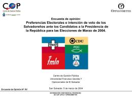 Población de El Salvador - ICTI