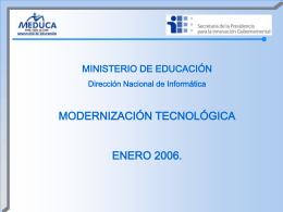 Diapositiva 1 - Ministerio de Educación