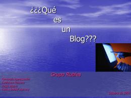 ¿Qué es un Blog???