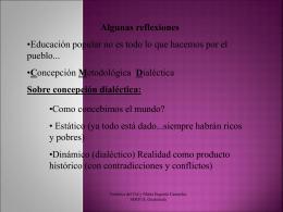 Concepción Metodológica Dialéctica