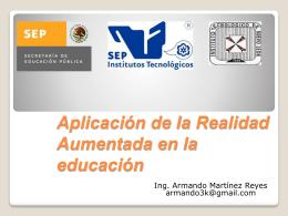 Aplicación de la Realidad Aumentada en la educación