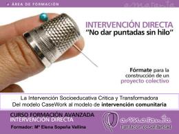 Curso Formación Avanzada de Intervención Directa