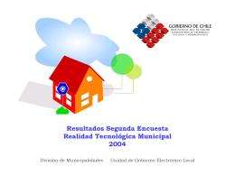 Encuesta Realidad Tecnológica Municipal 2004