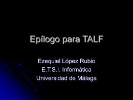 Epílogo para TALF - LCC