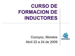 CURSO DE FORMACION DE INDUCTORES