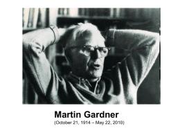 ¡Ajá! Paradojas de Martin Gardner