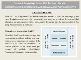 análisis dafo - COMPETENCIASGRUPORIOVERDE