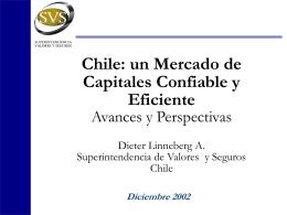 Mr. Dieter Linneberg - Superintendencia de Valores y Seguros