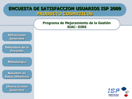 Diapositiva 1 - Instituto de Salud Pública de Chile