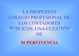 QUE ES LA SUPERVIVENCIA? - Colegio Profesional de