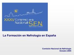 La Formación en Nefrología en España Encuesta a los residentes