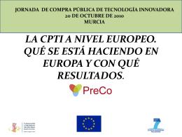 La CPTi a nivel europeo. Qué se está haciendo en Europa y con
