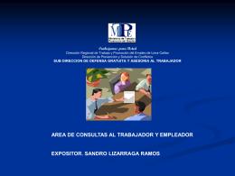 Diapositiva 1 - Ministerio de Trabajo
