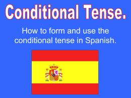 Conditional Tense