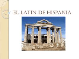 El latín de Hispania