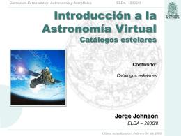 ELDA – 2006/II Cursos de Extensión en Astronomía y Astrofísica