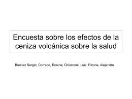 Encuesta: Los efectos de las cenizas volcánicas en la salud