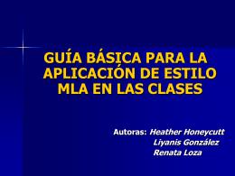 Modelo editorial de la asociación de lenguas modernas (MLA)