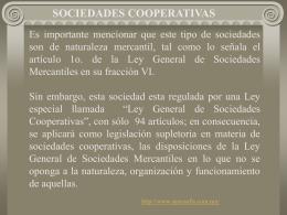 Sociedades cooperativas.