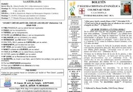 24 Marzo 2013 - Iglesia Cristiana Evangélica de Colmenar Viejo