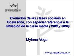Evolución de las clases sociales en Costa Rica, con
