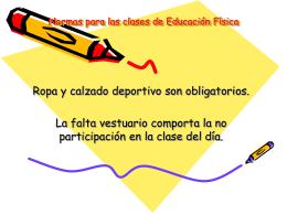 Normas para las clases de Educación Física