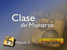 Clase de Maestros